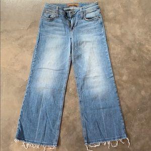 Joe's cropped jeans wide leg crop